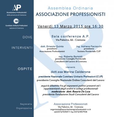 Assemblea Associazione Professionisti con Marina Calderone